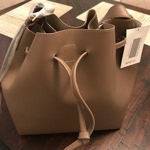 Justfab tan bucket bag